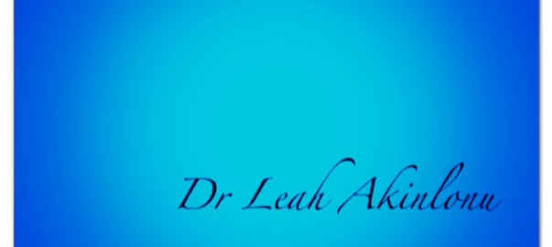 Dr Leah name blue